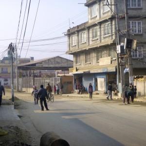 Streets of Kathmandu during a Bandh