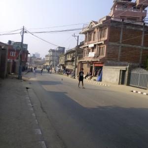 Walking during a Bandh (public strike)